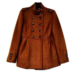 Absolutely Gorgeous Brown Peacoat